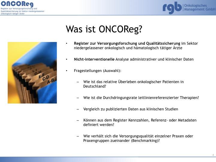 ONCORegPraesentation_Kersting_Pio2013_v4