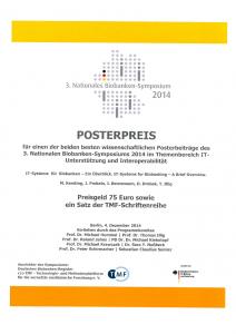 Posterpreis_Biobank_Symposium_2014